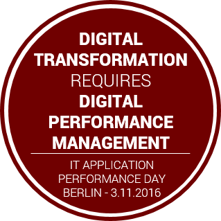 IT APPLICATION PERFORMANCE DAY am 3.11.2016 in Berlin
