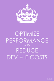 Optimize Performance and Reduce DEV + IT Costs